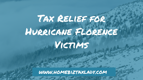Tax Relief for Hurricane Florence Victims