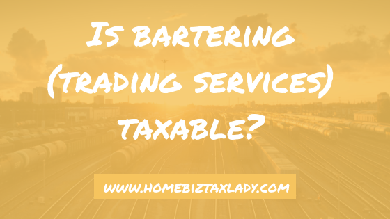 Is bartering (trading services) taxable?