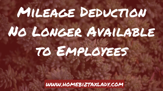 Mileage Deduction No Longer Available to Employees